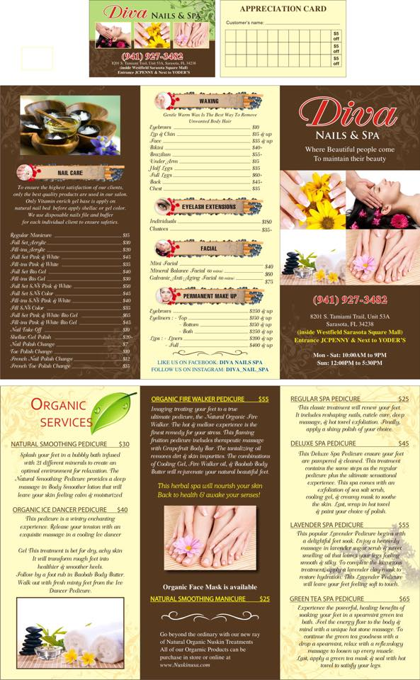 Contact Us – WELCOME TO DIVA NAILS & SPA